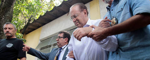 Member of Brazil's Lower House of Congress Paulo Maluf (2nd R) is escorted by Federal Police as he leaves the Medical Legal Institute in Sao Paulo, Brazil December 20, 2017. REUTERS/Leonardo Benassatto ORG XMIT: SAO100