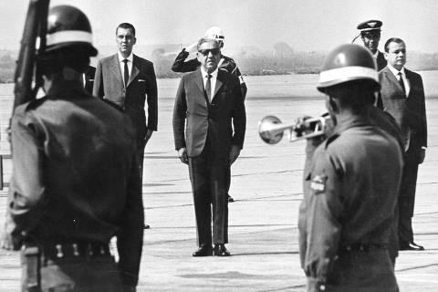 Arthur Costa e Silva em Sao Paulo 14/05/1967 Foto: Acervo UH/Folha Imagem  ***FOTO DE USO EXCLUSIVO FOLHAPRESS***
