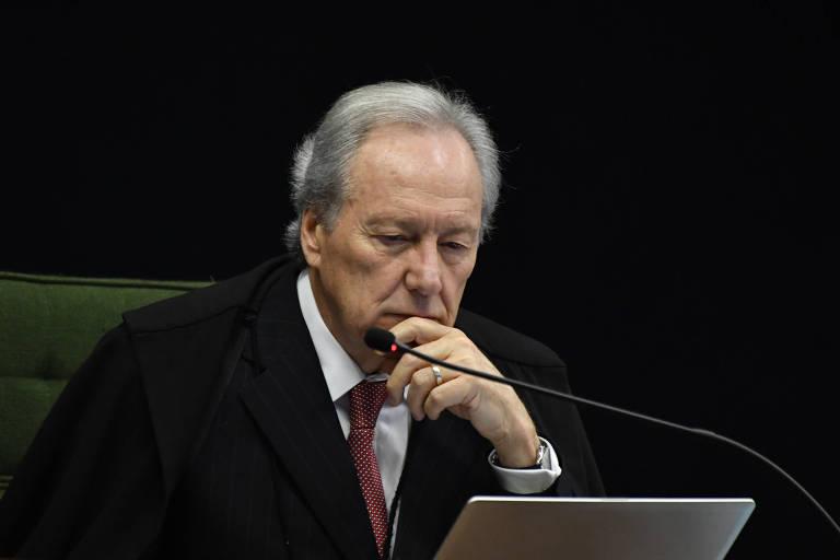 Ricardo Lewandowski, ministro do STF,  durante sessão da corte