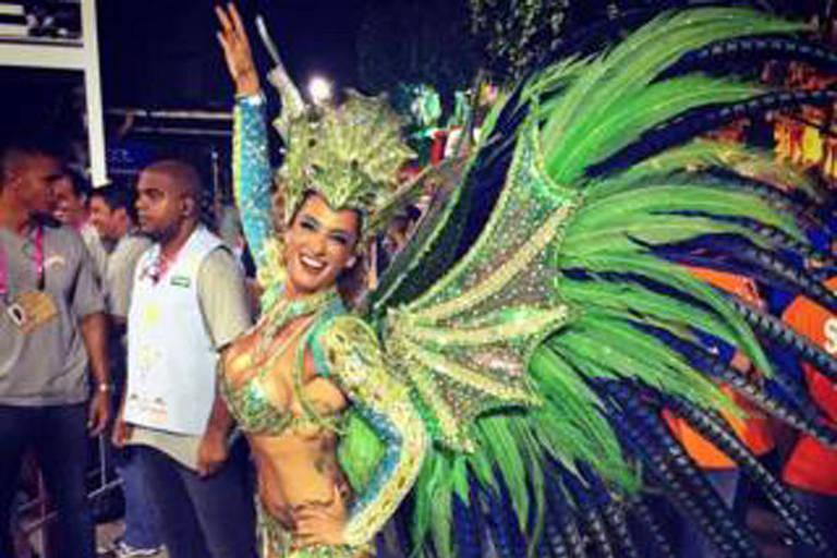 Samantha se apaixonou pelo Rio e pelo Carnaval