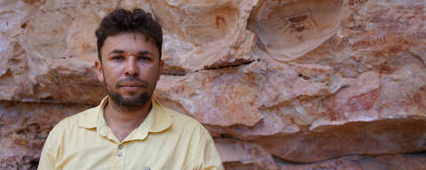 O arqueólogo Iderlan de Souza, na Serra da Capivara. Credito Arquivo Pessoal DIREITOS RESERVADOS. NÃO PUBLICAR SEM AUTORIZAÇÃO DO DETENTOR DOS DIREITOS AUTORAIS E DE IMAGEM