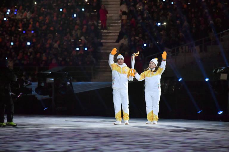 Cerimônia de abertura da Olimpíada de Inverno 2018