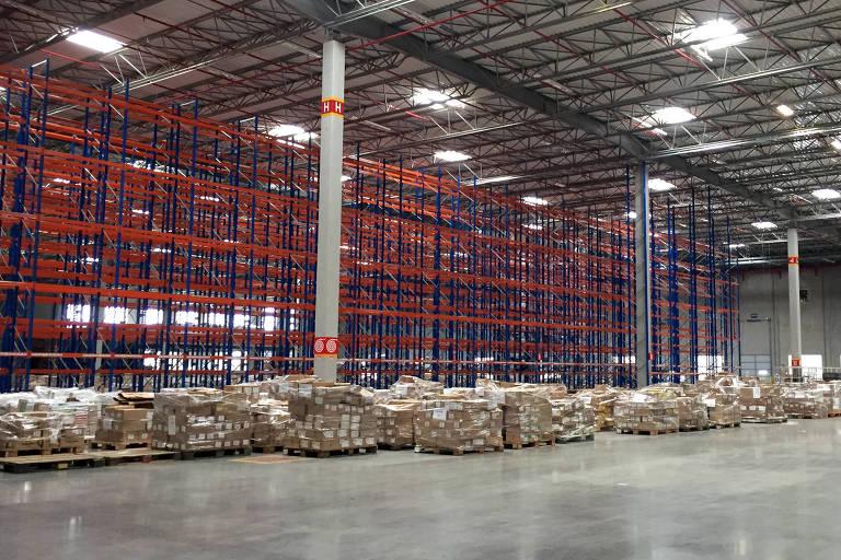 Centro de distribuição em Cajamar (SP); empresa anunciou primeiro local para o Nordeste