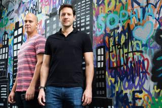 Os empresários Marcelo Abritta (esq.) e Marcelo Vasconcelos