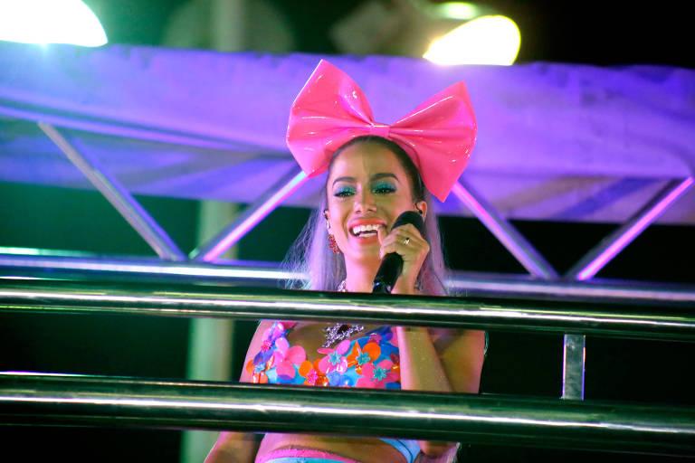 Anitta no primeiro dia do Carnaval de Salvador