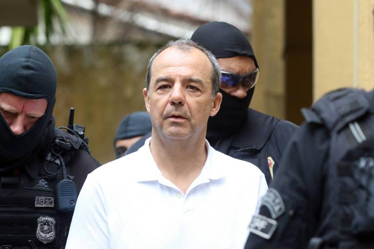 Ex-governador Sergio Cabral realiza exame de corpo-de-delito no IML em Curitiba, em janeiro