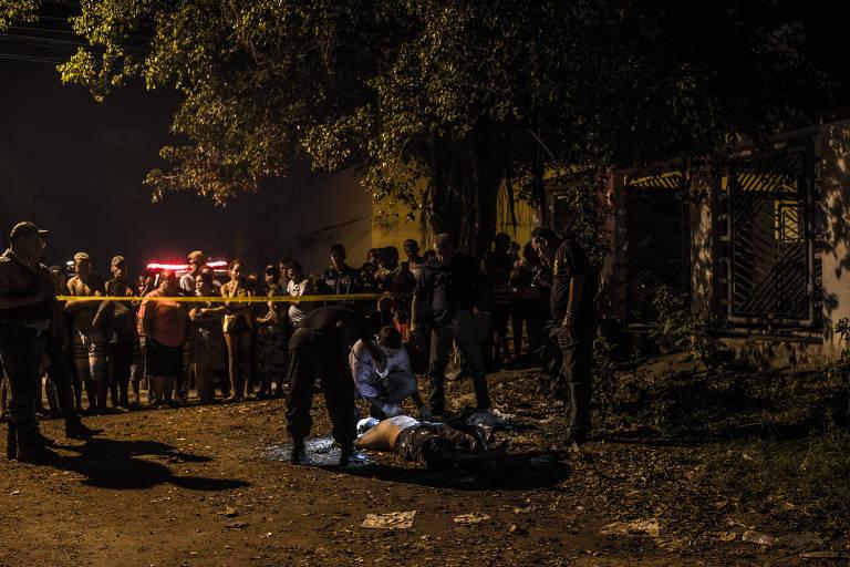 Bairro de Curado, na periferia do Recife, após homicídio; Estado teve alta de violência