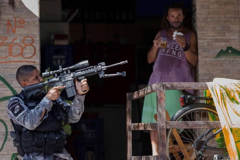 Polícia Militar faz operação na Rocinha, em janeiro deste ano