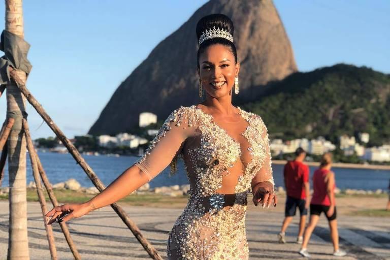 A rainha da Imperio Serrano Milena Nogueira