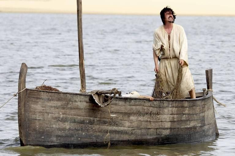 O ator Caio Junqueira, em cena da série 'Milagres de Jesus', da Record