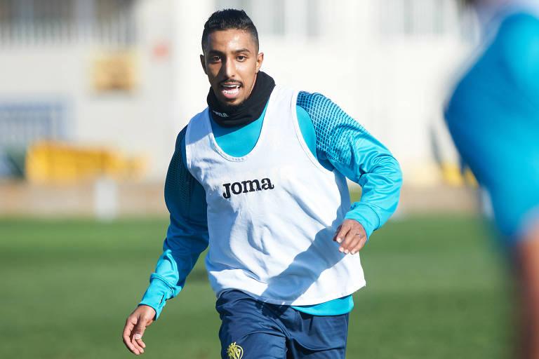 Jogador da Arábia Saudita Salem Al-Dawsari em primeiro treino na equipe do Villareal, que disputa o Espanhol