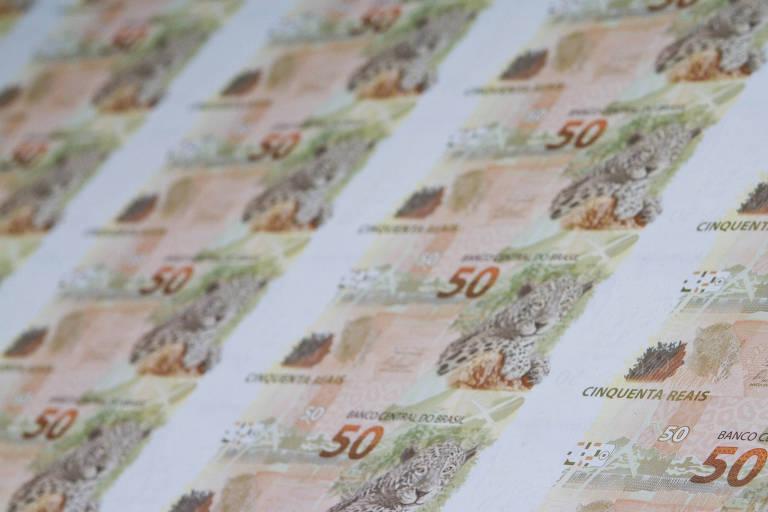 Fábricas de matrizes e cédulas da Casa da Moeda do Brasil (CMB), em Santa Cruz, na Zona Oeste do Rio de Janeiro, imprimem cédulas de R$ 50