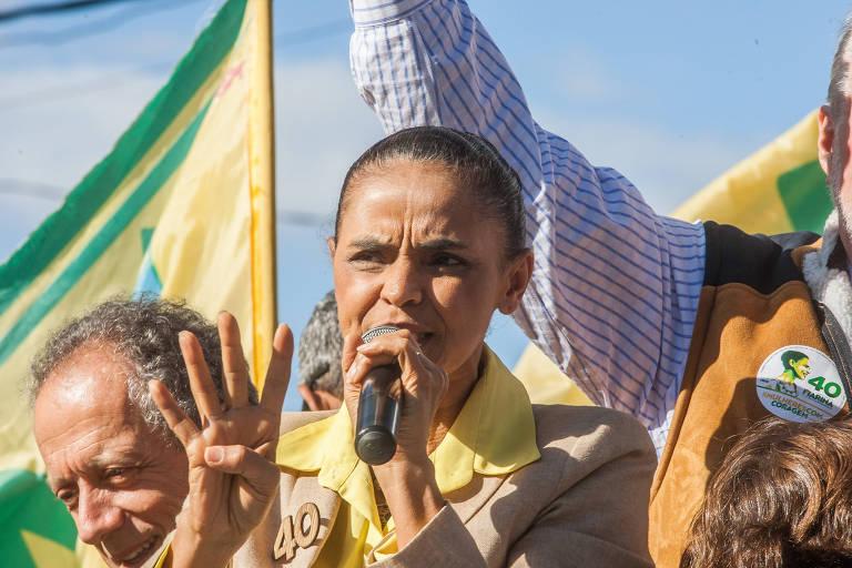 Marina Silva, durante a campanha de 2014