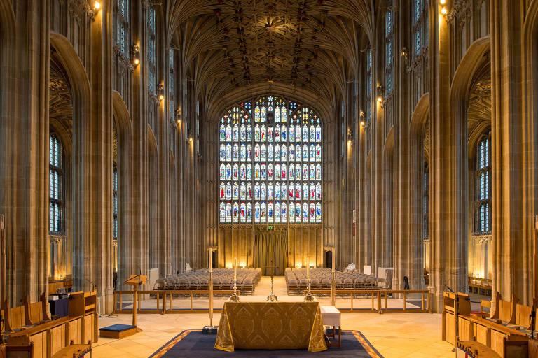 Capela de St George, no Castelo de Windsor, onde o príncipe Harry e Meghan Markle vão se casar