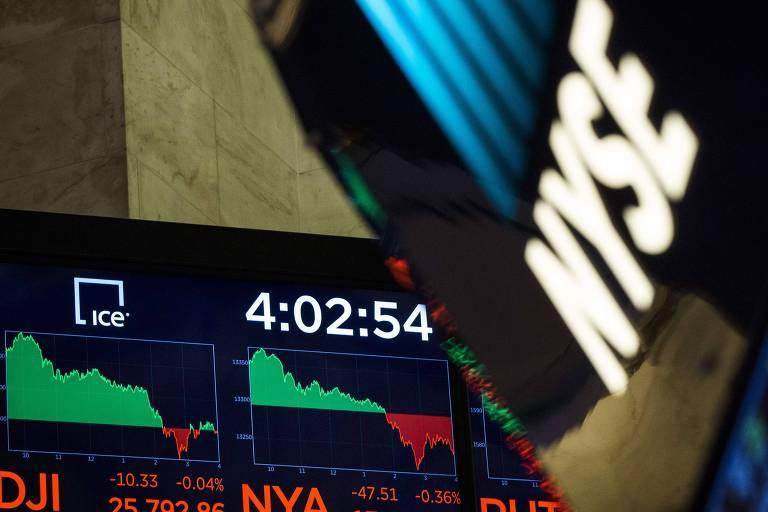 Painel nas Bolsas de Nova York: índices subiram pelo segundo dia