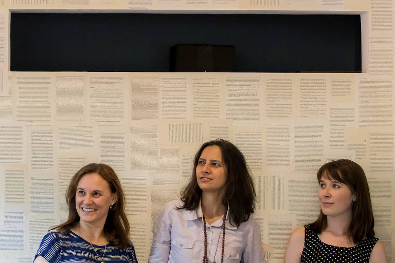 Luci Collin, Assionara Souza e Carol Sakura em evento em Curitiba