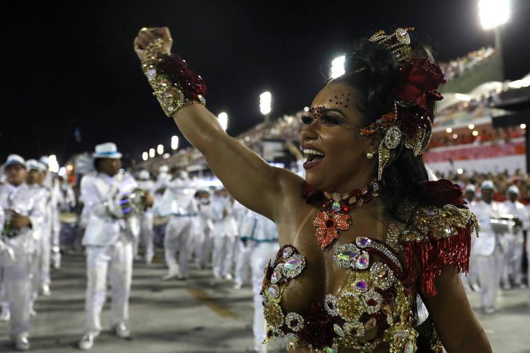 Raíssa de Oliveira, a rainha de bateria da Beija-Flor