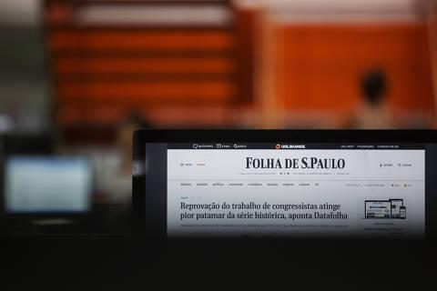 São Paulo, SP. 27/01/2018. Novo site da Folha de S. Paulo. ( Foto: Lalo de Almeida/ Folhapress ) TREINAMENTO  *** EXCLUSIVO FOLHA***