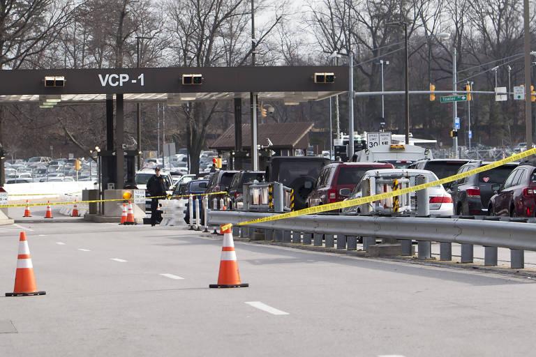 Entrada da base onde fica a NSA, que foi fechada logo após o caso