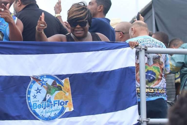 Jojo Todynho comemora vitória da Beija-Flor no Carnaval do Rio