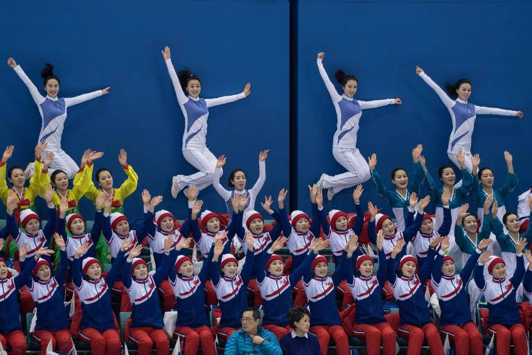 Cheerleaders da Coréia do Norte em Pyeongchang 2018