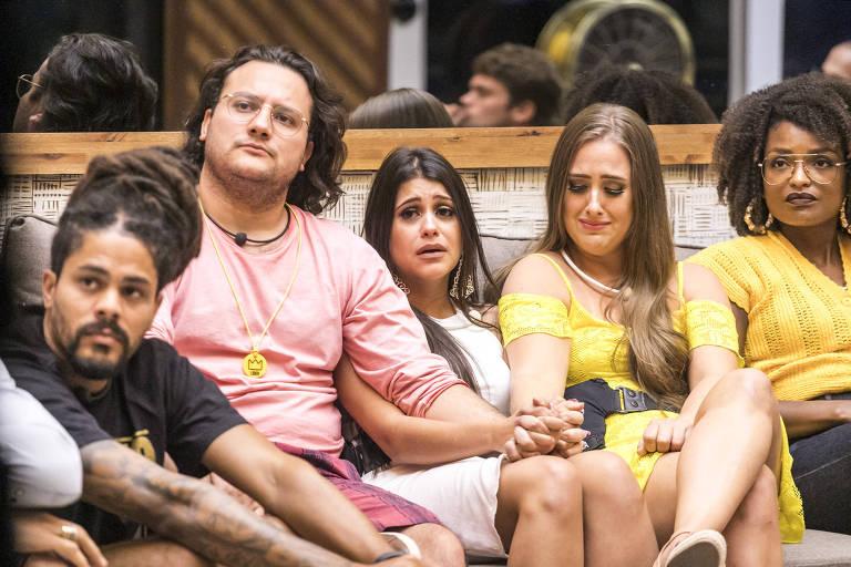 Viegas, Diego, Ana Paula, Patrícia e Nayara no 'BBB 18'