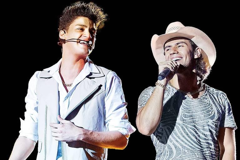 Munhoz (à esq.) e Mariano cantam juntos há dez anos