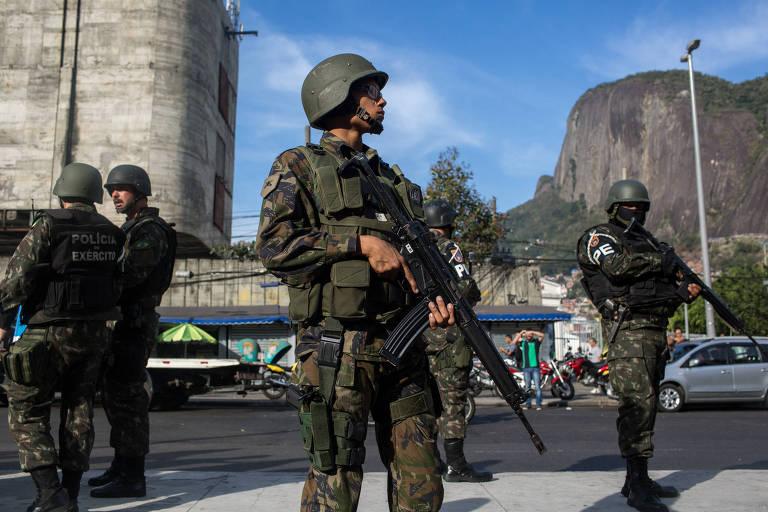 Forças do Exército na Rocinha, em setembro de 2017