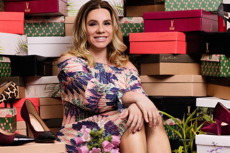 Tânia Gomes, da empresa 33e34, comercializa sapatos em grandes portais da internet