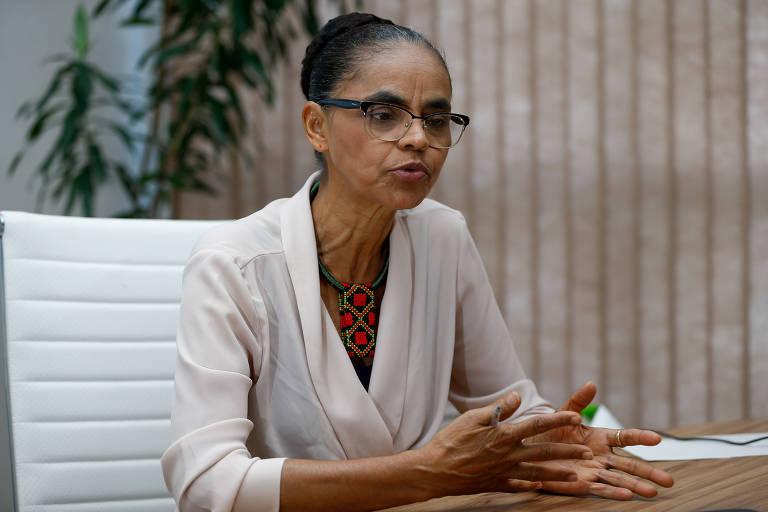 A ex-ministra Marina Silva dá entrevista na sede da Rede Sustentabilidade, em Brasília