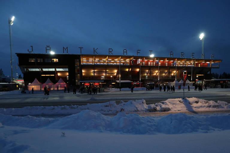 Jamtkraft Arena é a casa do Ostersund, da Suécia