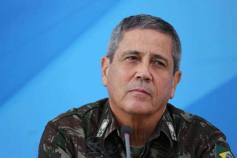 General Walter Braga Netto durante assinatura do decreto de intervenção federal na Segurança Pública do Rio de Janeiro (RJ), no Palácio do Planalto, em Brasília (DF), nesta sexta-feira (16/2)