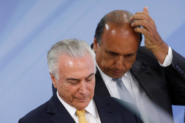 O presidente Temer e governador do Rio, Luiz Fernando Pezão