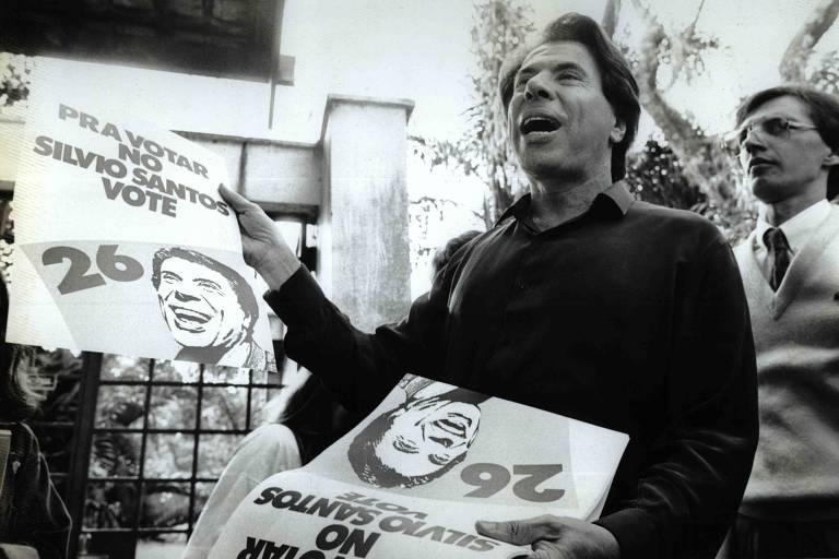 Silvio Santos faz campanha para presidente em 1989