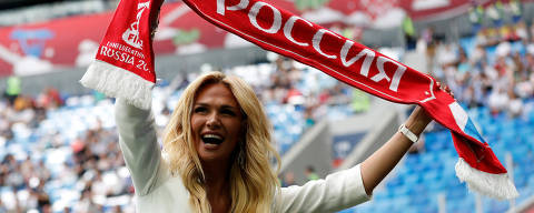 Soccer Football - Russia v New Zealand - FIFA Confederations Cup Russia 2017 - Group A - Saint Petersburg Stadium, St.Petersburg, Russia - June 17, 2017   Official ambassador of the FIFA World Cup 2018 Victoria Lopyreva before the match   REUTERS/Carl Recine ORG XMIT: AI