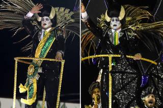 Antes e depois - Desfile Tuiuti