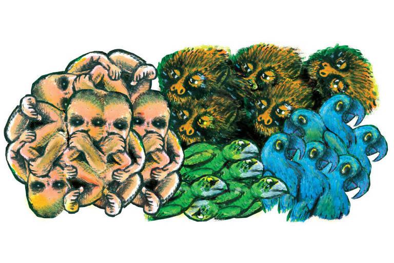 Ilustração da coluna de Luiz Felipe Pondé - Ilustrada de 19/2/2018