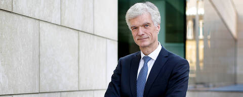 Andreas Schleicher, Director for the Directorate of Education and Skills at OECD poses during a photo session in Paris in november 2016.