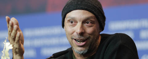 Director Jose Padilha attends a news conference for the film '7 Days in Entebbe' during the 68th edition of the International Film Festival Berlin, Berlinale, in Berlin, Germany, Monday, Feb. 19, 2018. (AP Photo/Markus Schreiber) ORG XMIT: MSC139