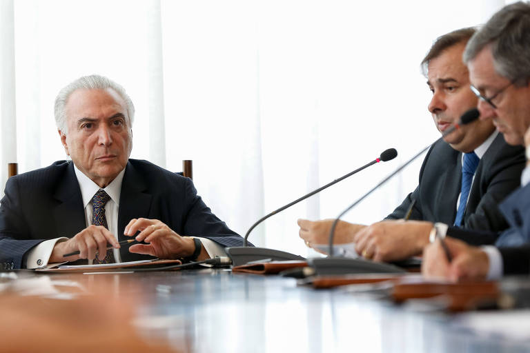 Presidente Michel Temer em reunião do Conselho da República e do Conselho de Defesa Nacional