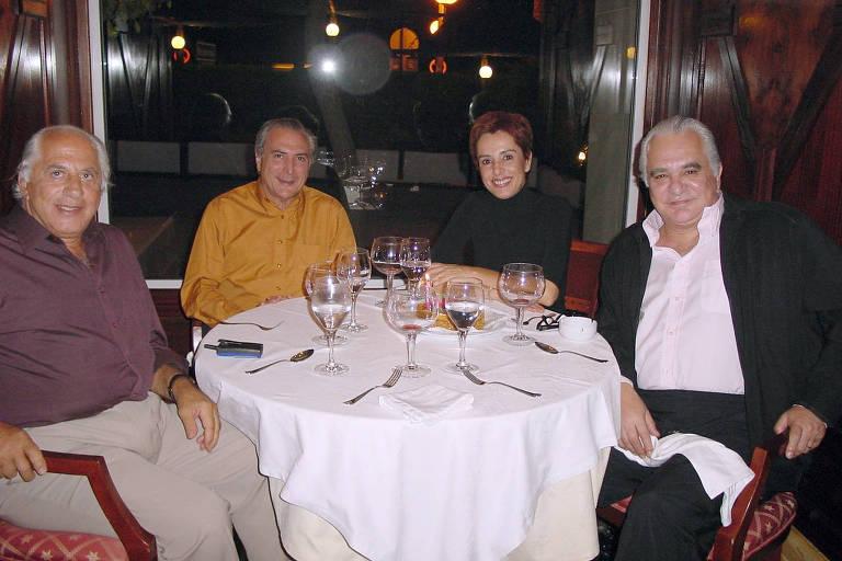 José Yunes (roxo), Michel Temer e Roberto Amaral