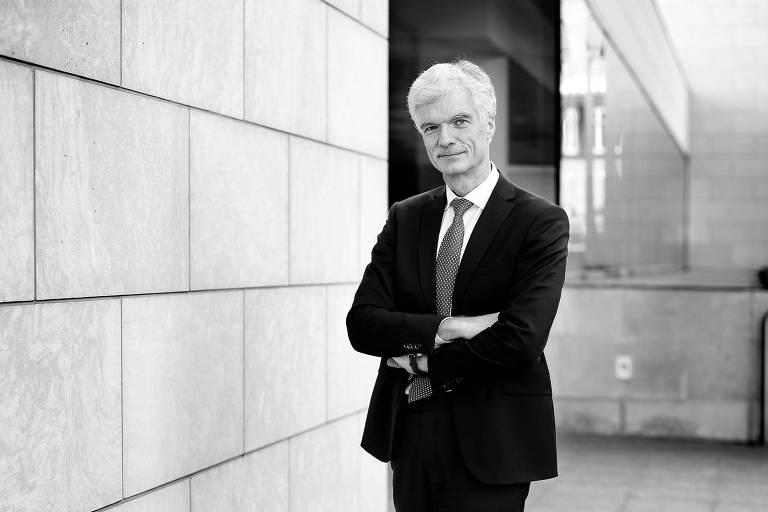 O diretor do departamento educacional da OCDE, Andreas Schleicher, durante evento, em 2016, em Paris; ele é um dos idealizadores do Pisa