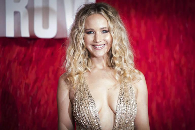 """Jennifer Lawrence no lançamento de """"Operação Red Sparrow"""""""