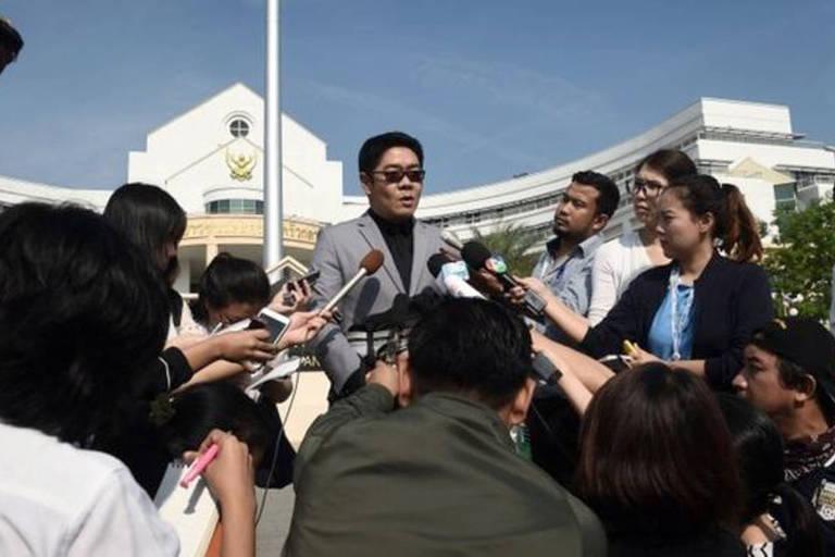 O advogado Kong Suriyamontol representa o milionário japonês, que lutou na Justiça pelo direito à paternidade das crianças