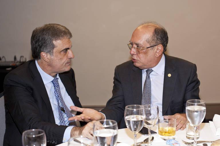 O ex-ministro da Justiça José Eduardo Cardozo e o ministro do STF Gilmar Mendes