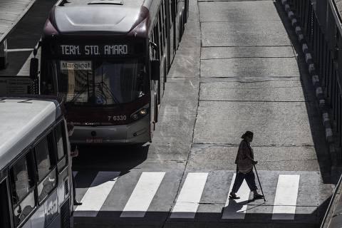 SAO PAULO  - SP - 08.02.2018 - Terminal Bandeira. Verba de Doria para subsidiar ônibus supera em R$ 1 bi os gastos com obras. (Foto: Danilo Verpa/Folhapress, COTIDIANO)
