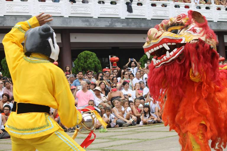 Festa de Ano Novo Chinês no Templo Zu Lai