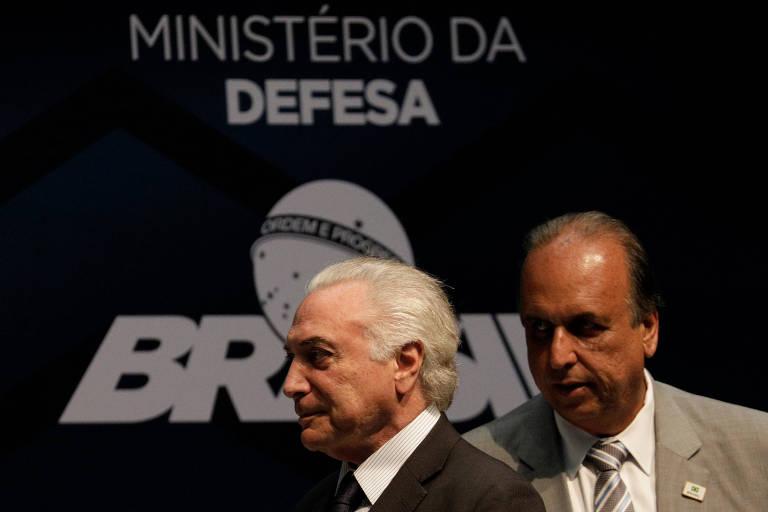 Temer com o governador do Rio, Luiz Fernando Pezão