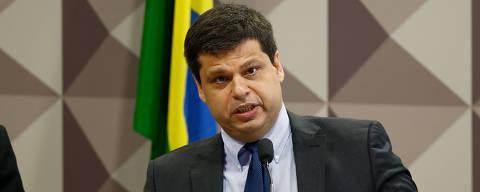 BRASILIA, DF,  BRASIL,  29-11-2017, 12h00: Reunião da CPMI da JBS destinada a ouvir o ex-procurador Marcelo Miller (FOTO). O senador Athaídes Oliveira (PSDB-TO) preside a sessão e o relator é o deputado Carlos Marun (PMDB-MS). No senado federal. (Foto: Pedro Ladeira/Folhapress, PODER)
