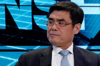 Shu Yinbiao, Chairman of State Grid Corporation of China, attends the World Economic Forum (WEF) annual meeting in Davos